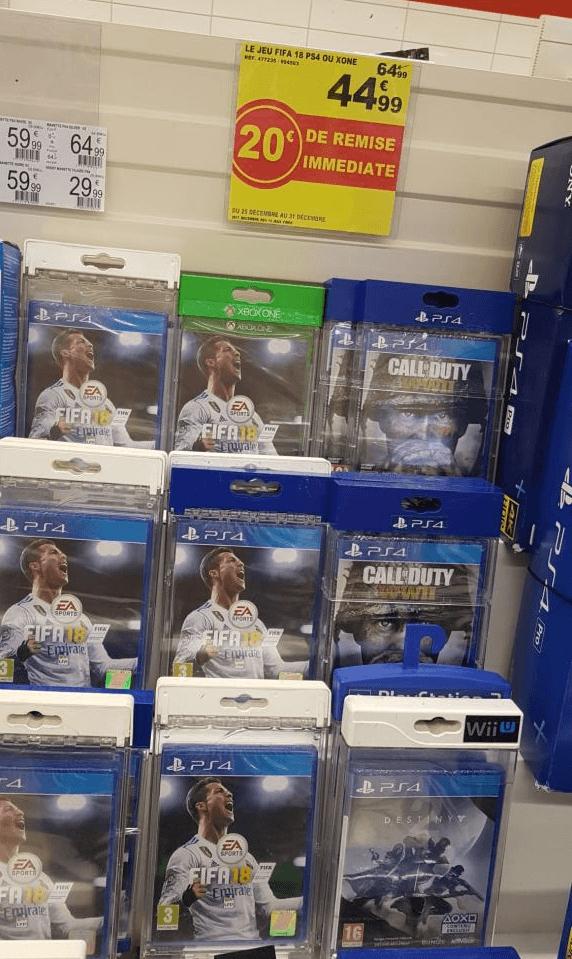 Jeu FIFA 18 sur PS4 ou Xbox One - Auchan Valence (07)