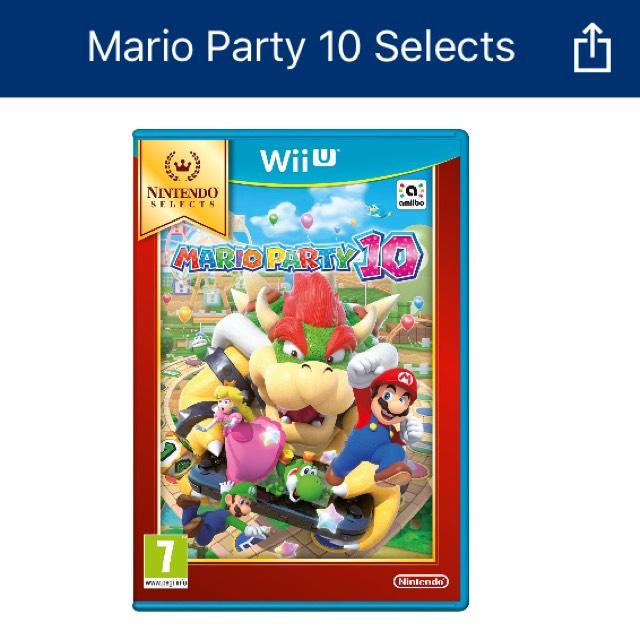 Sélection de jeux Wii U et 3DS en promotion - Ex : Mario party 10 en magasin