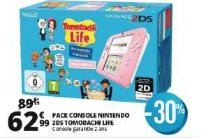 Pack console Nintendo 2DS + Tomodachi Life (Frontaliers Luxembourg)