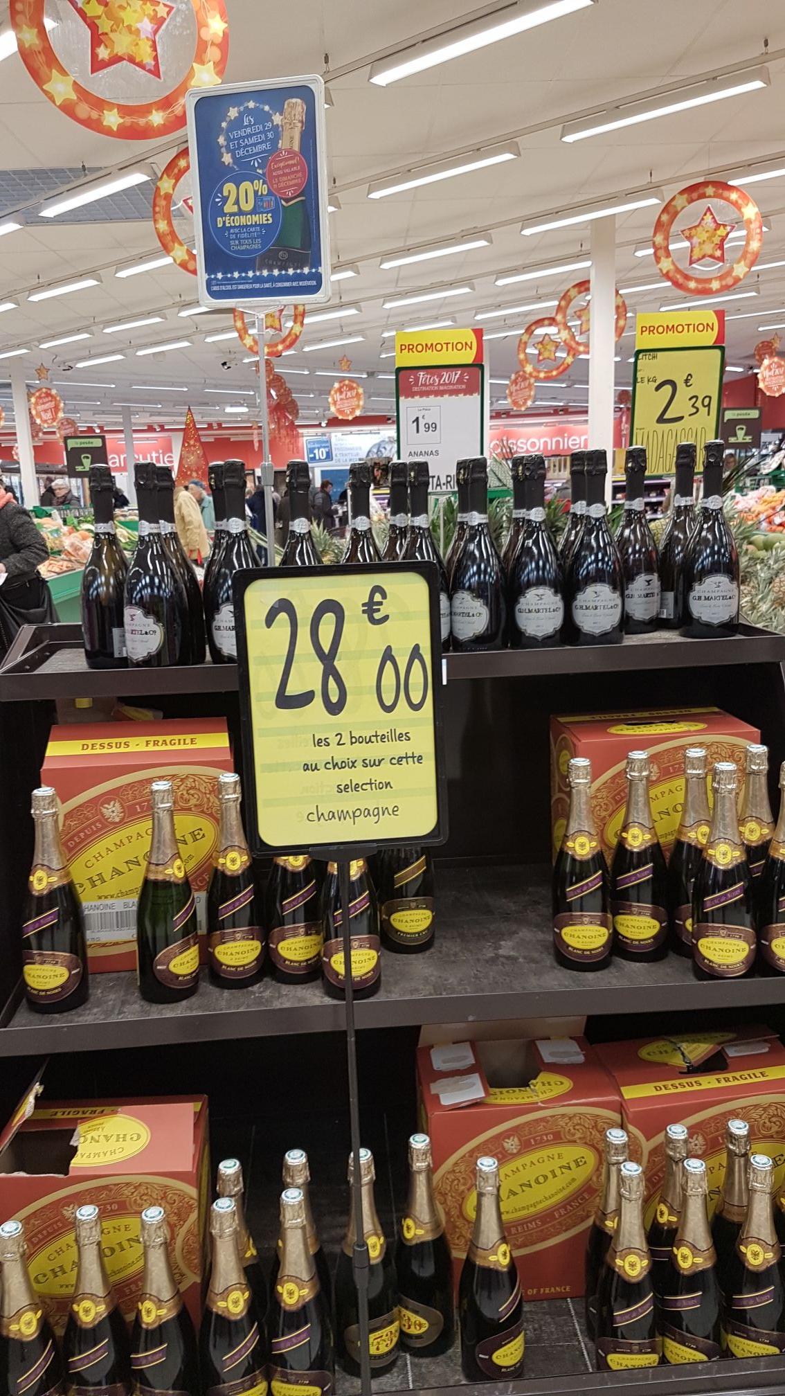 2 bouteilles de champagne au choix (via 5.6€ sur la carte fidélité) - Sotteville les Rouen (76)