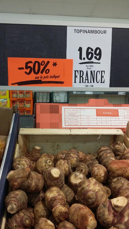 -50% sur plusieurs articles aux rayons fruits et légumes - Ex: Un kilo de topinambour (Nîmes - 30)