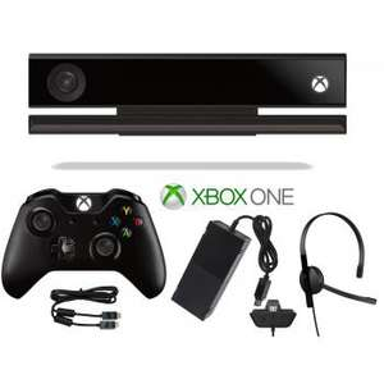 Pack d'accessoires Microsoft Xbox One : Kinect + Manette + Casque + Câble HDMI + Alimentation