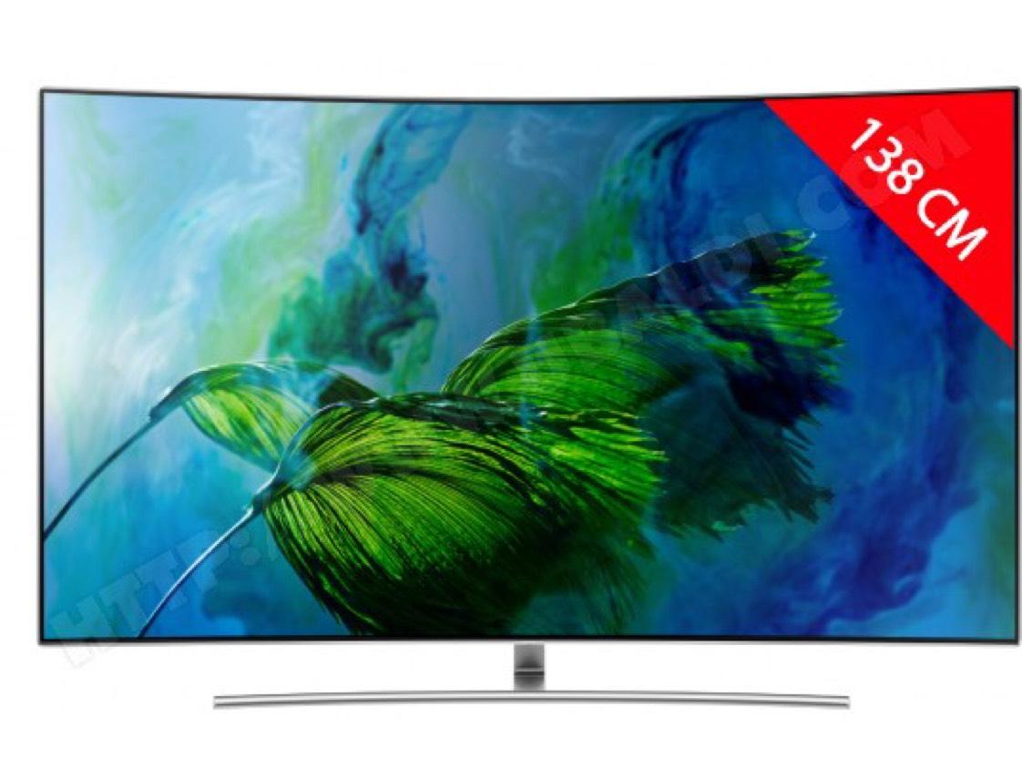 """TV 55"""" Samsung QE55Q8C - Qled, 4K UHD, Incurvé, 138 cm"""