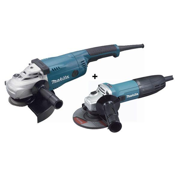 Pack de 2 meuleuses Makita : GA9020 230 mm 2200W + GA5030 125 mm 720 w