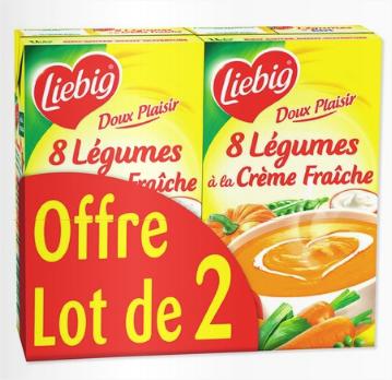 Soupe Liebig Doux Plaisir et légumes (2x1 L)