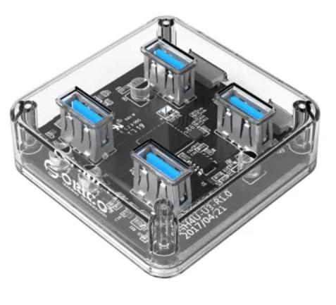 Hub USB 3.0 Orico MH4U - 4 ports transparent