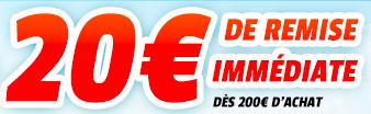 20€ de reduction dès 200€ d'achat via mobile