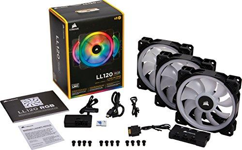 Lot de 3 Ventilateurs Corsair LL Series LL120 RGB avec contrôleur