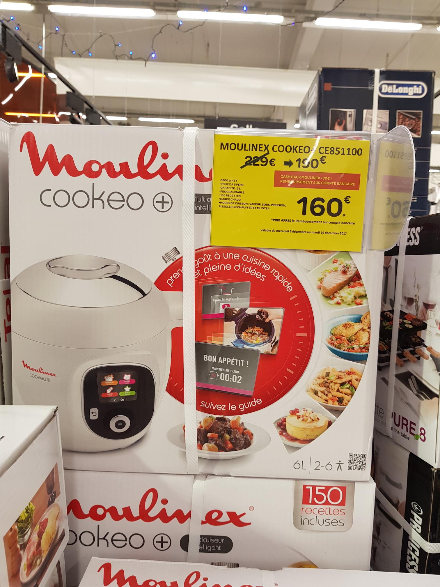 Multicuiseur Intelligent Cookeo 150 recettes CE8511 (Frontaliers belgique)