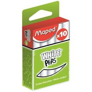 Boîte de 10 craies blanches Maped White Peps
