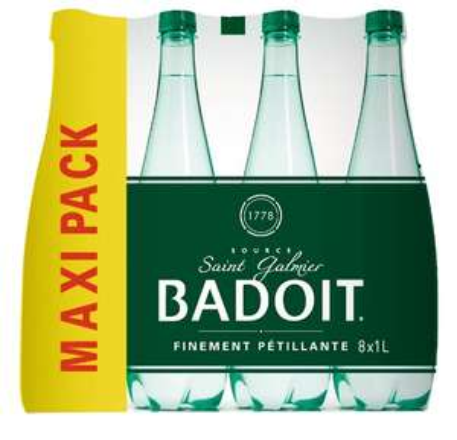 2 Packs de 8 bouteille de Badoit - 8x1L