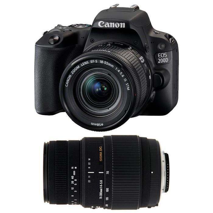 Appareil photo reflex Canon EOS 200D + Objectif EF-S 18-55mm f/3.5-5.6 (+ £50 d'ODR)