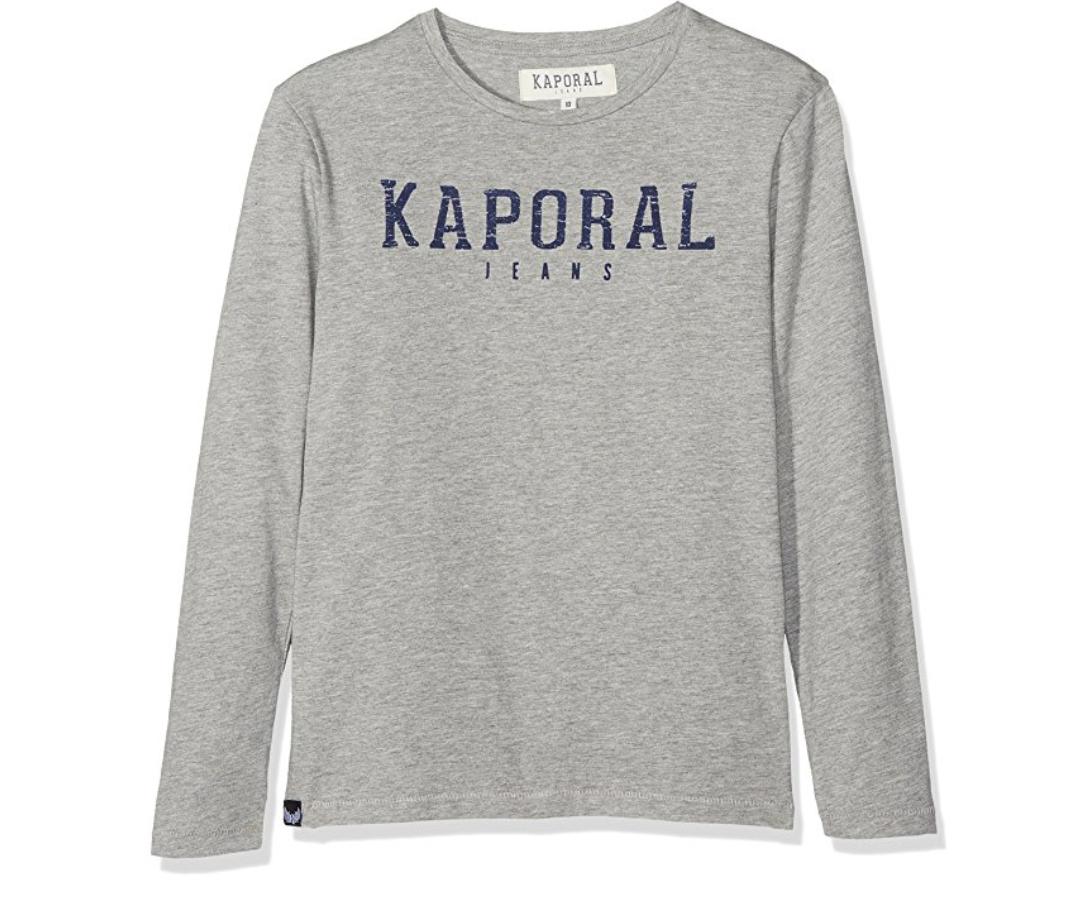 T-shirt manches longues Kaporal Nesso - 12 ans, Gris