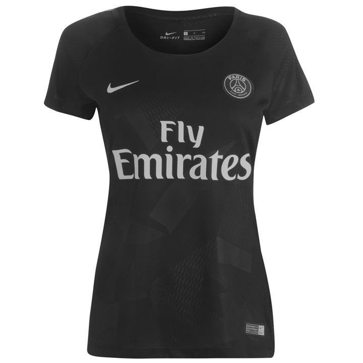 Maillot de Football Nike Paris Saint-Germain Third 2017 / 2018 Noir pour Femmes - Tailles au choix