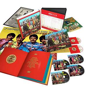 Coffret The Beatles: The Sgt. Pepper's Lonely Hearts Club Band - Edition limitée 50th Anniversary (4 CD + 1 DVD + 1 Blu-Ray)