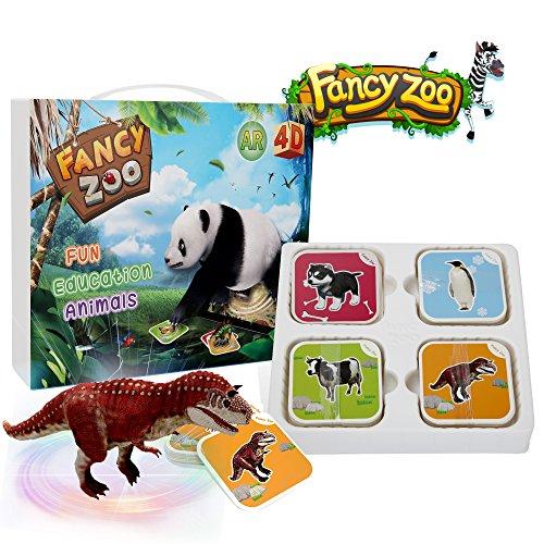 Jeu de cartes à flasher 4D VR & AR Fancy Zoo (Vendeur tiers)