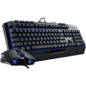 Pack clavier-souris Cooler Master Devastator II, LED Bleues (AZERTY)