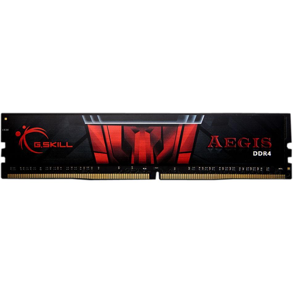 Kit mémoire G.Skill Aegis DDR4 - 1x 16 Go, 2133MHz, CAS 15 (F4-2400C15D-16GIS)