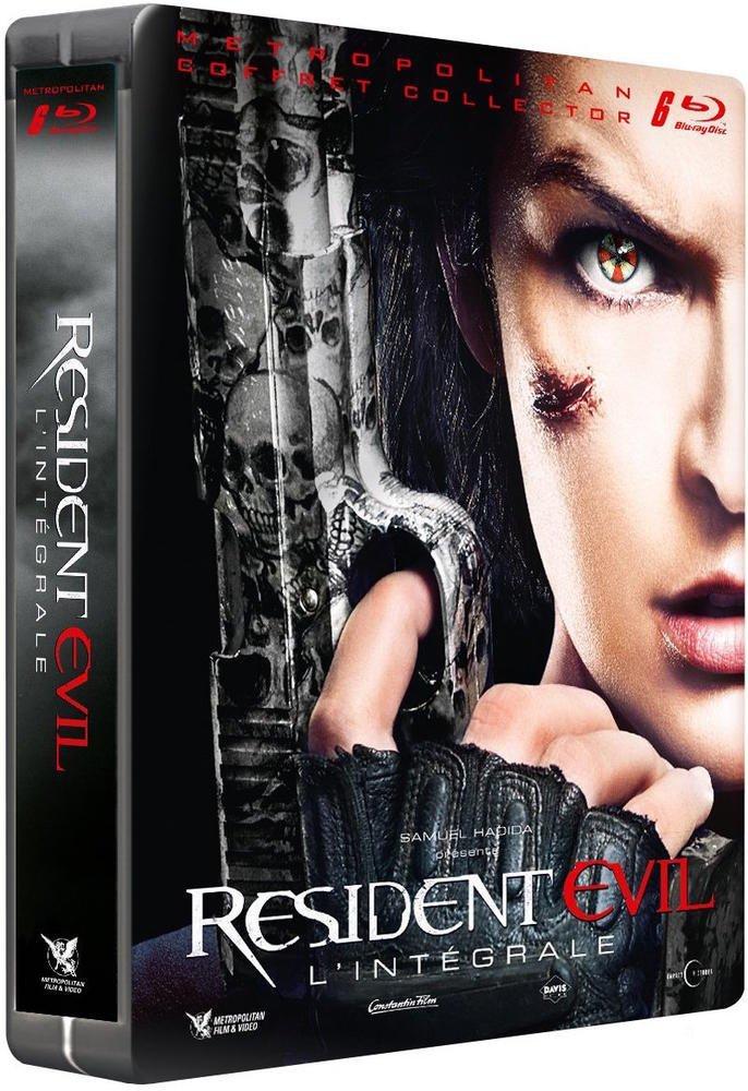 Coffret Blu-ray Steelbook Resident Evil : L'intégrale - 1 à 6