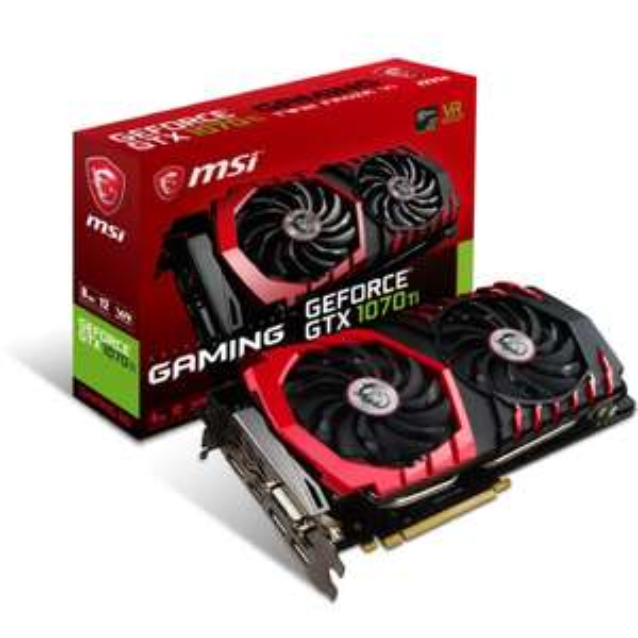 Carte Graphique MSI GeForce GTX 1070 Ti Gaming 8 Go