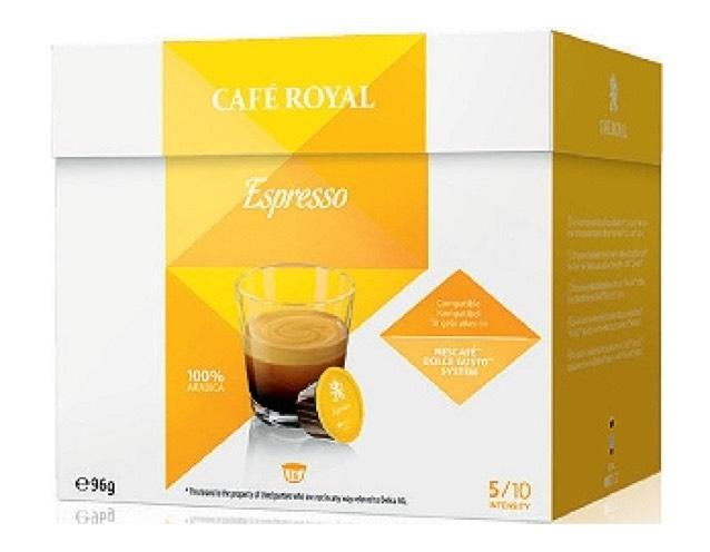 Boîte de 16 Capsules Café Royal compatibles Dolce Gusto - Variétés au choix (via BDR)