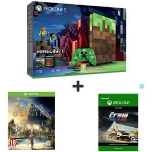 Console Xbox One S - 1 To Edition Minecraft + Assassin's Creed Origins + The Crew (version dématérialisé)