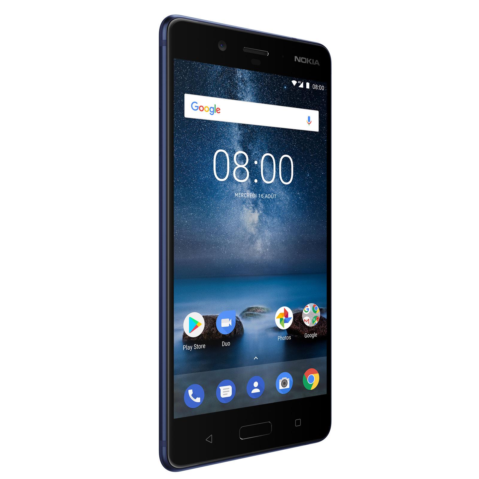 """Smartphone 5.3"""" Nokia 8 - 4 Go RAM, 64 Go, Dual Sim, Bleu"""
