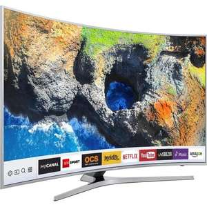 "TV 49"" Samsung UE49MU6505 - UHD, Incurvée, Smart TV (via ODR de 70€)"