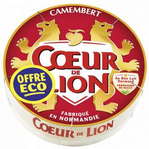 Lot Gratuit de 6 Camemberts Coeur de Lion - 6 x 250g (Via BDR + Appli)