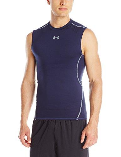T-Shirt de compression sans manches Under Armour Hg Couleur: Midnight Navy - Taille M