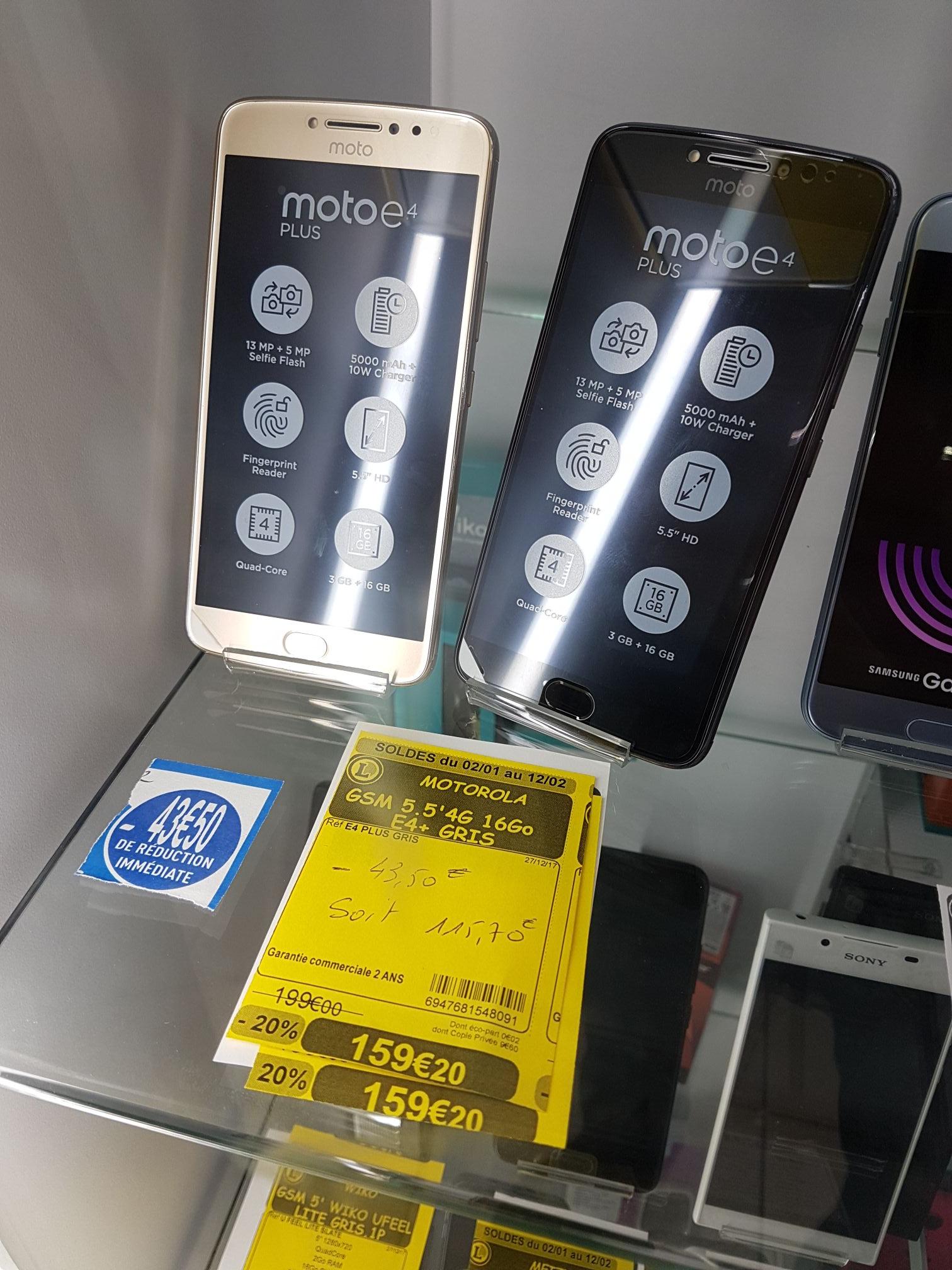 "Smartphone 5.5"" Motorola Moto E4 Plus - 3 Go RAM, 16 Go, Noir ou or  - Bar le duc (55)"