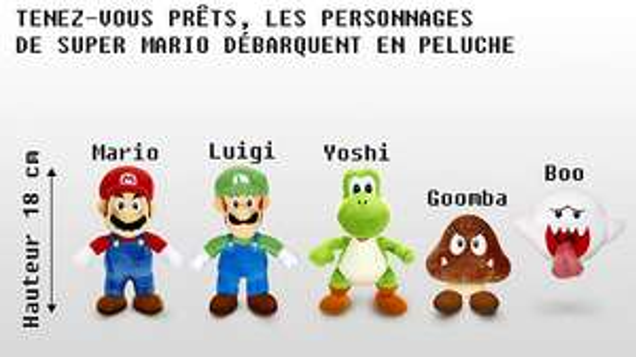 Lot de 5 Peluches Emblématiques Super Mario Collection