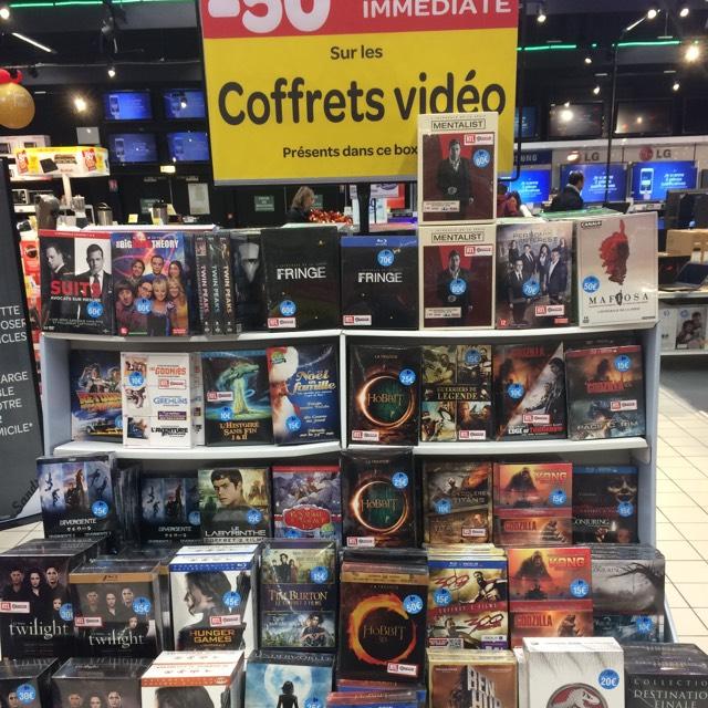 50% de réduction immédiate sur tous les coffrets vidéo - Ex : Coffret Blu-ray - DVD - UV - Le Hobbit : La Trilogie à 15€ (Toulouse Purpan - 31)
