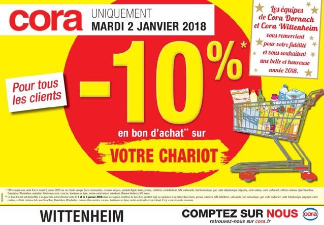 10% crédité sur le total de votre chariot (jusqu'à 300€ crédité - hors exceptions) - Wittenheim et Mulhouse (59)