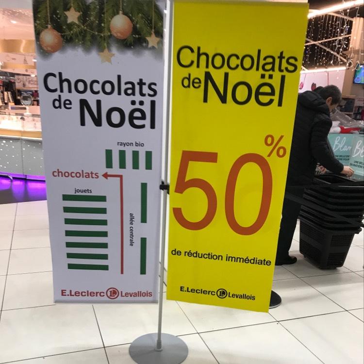 50% de réduction immédiate sur les chocolats - Leclerc Levallois (92)