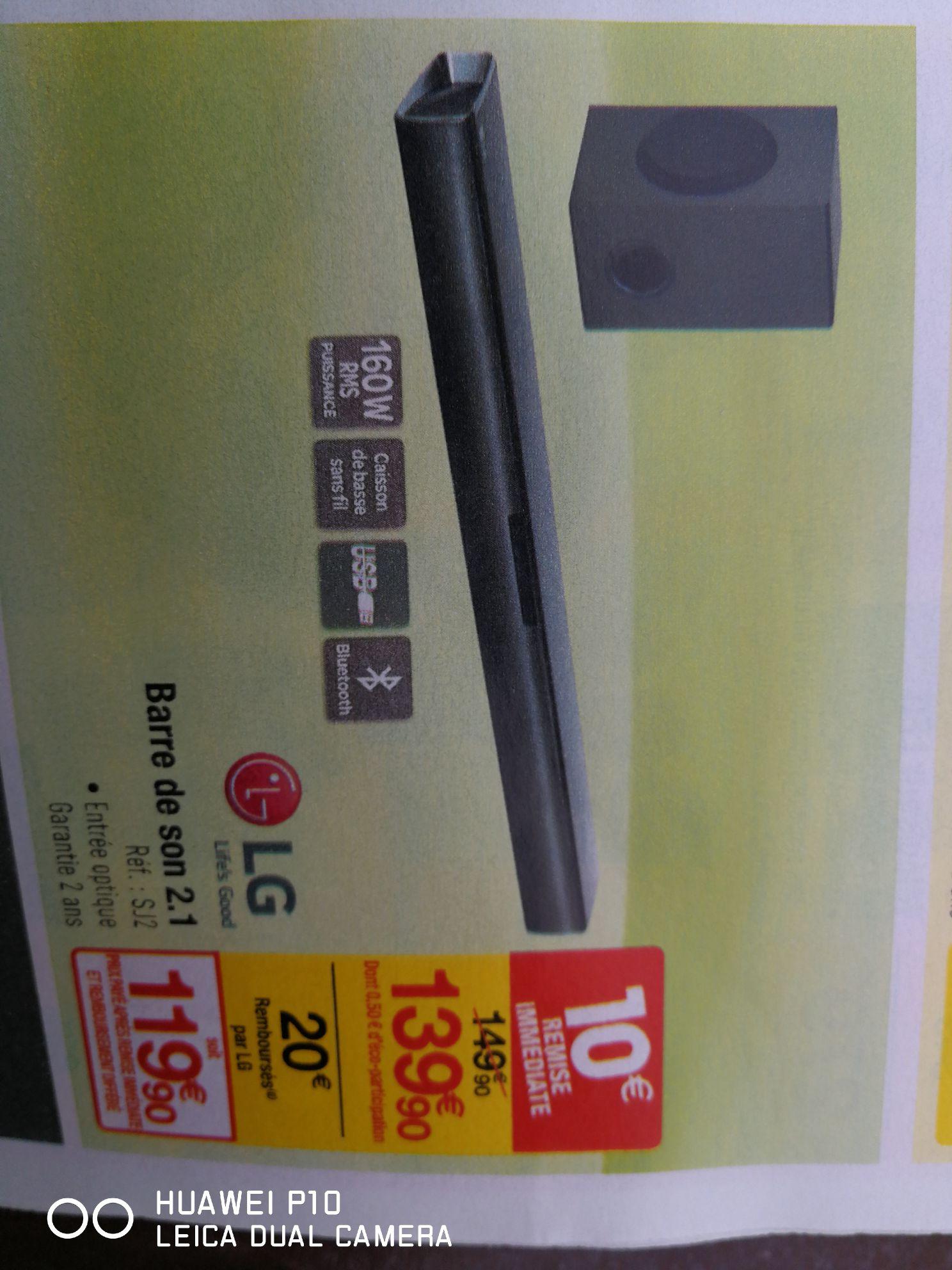 Barre de son LG SJ2 - 2.1 (via ODR 20€)