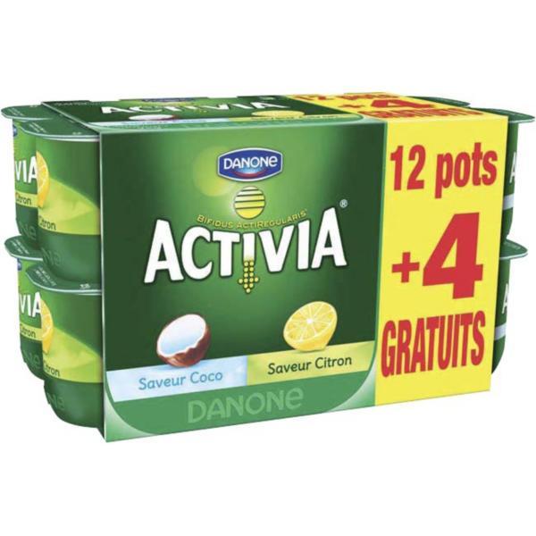 Lot de 12 pots de yaourts Activia Danone (via bon de réduction)