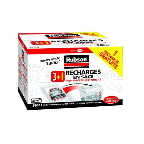 Rubson - 4 Recharges classiques pour absorbeur d'humidité