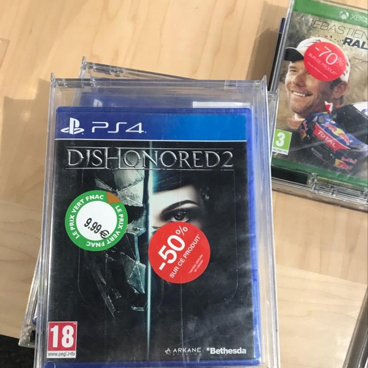 Sélection de jeux en promotion - Ex : Dishonored 2 sur PS4 - Metz (57)