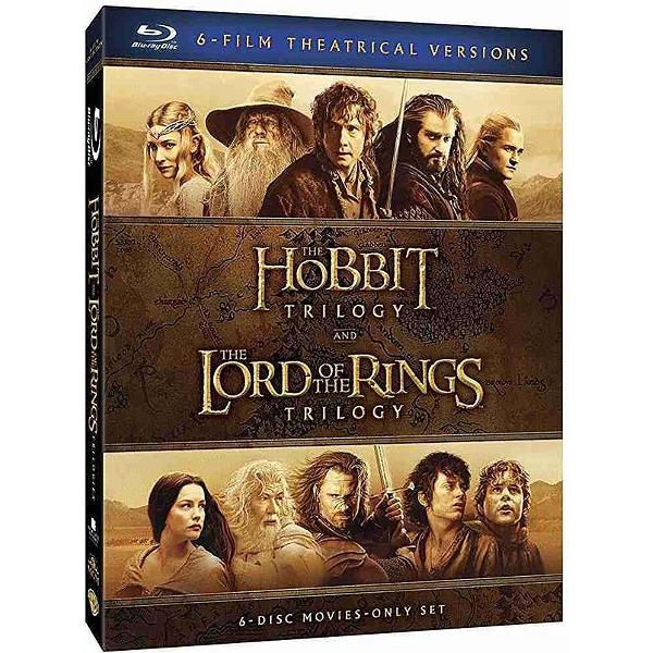 Coffret Terre du Milieu : Trilogie le Hobbit + Trilogie - Le Seigneur des Anneaux en Blu-ray
