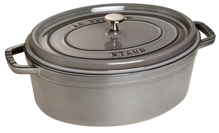 Cocotte Staub Ovale Noir Mat 31 Cm
