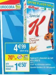 2 Paquets de céréales Special K Kellogg's gratuit