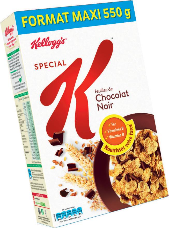 Lot Gratuit de 3 paquets de Céréales Special K de Kellogg's - 550g (Via Carte de fidélité + Shopmium)