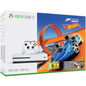 Pack console Xbox One S 500 Go + Forza Horizon 3 + Hot Wheels DLC