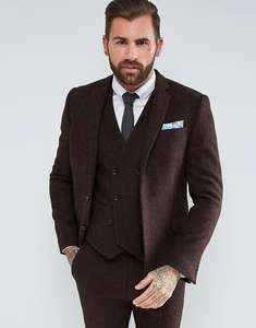 Sélection d'articles en promotion - Ex : Veste homme 100% Wool Harris Tweed Herringbone - marron (Asos UK)