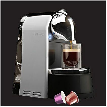 Machine Expresso Belmio Bello compatible Nespresso + 7 Boites de 10 Capsules - (via ODR de 70€)