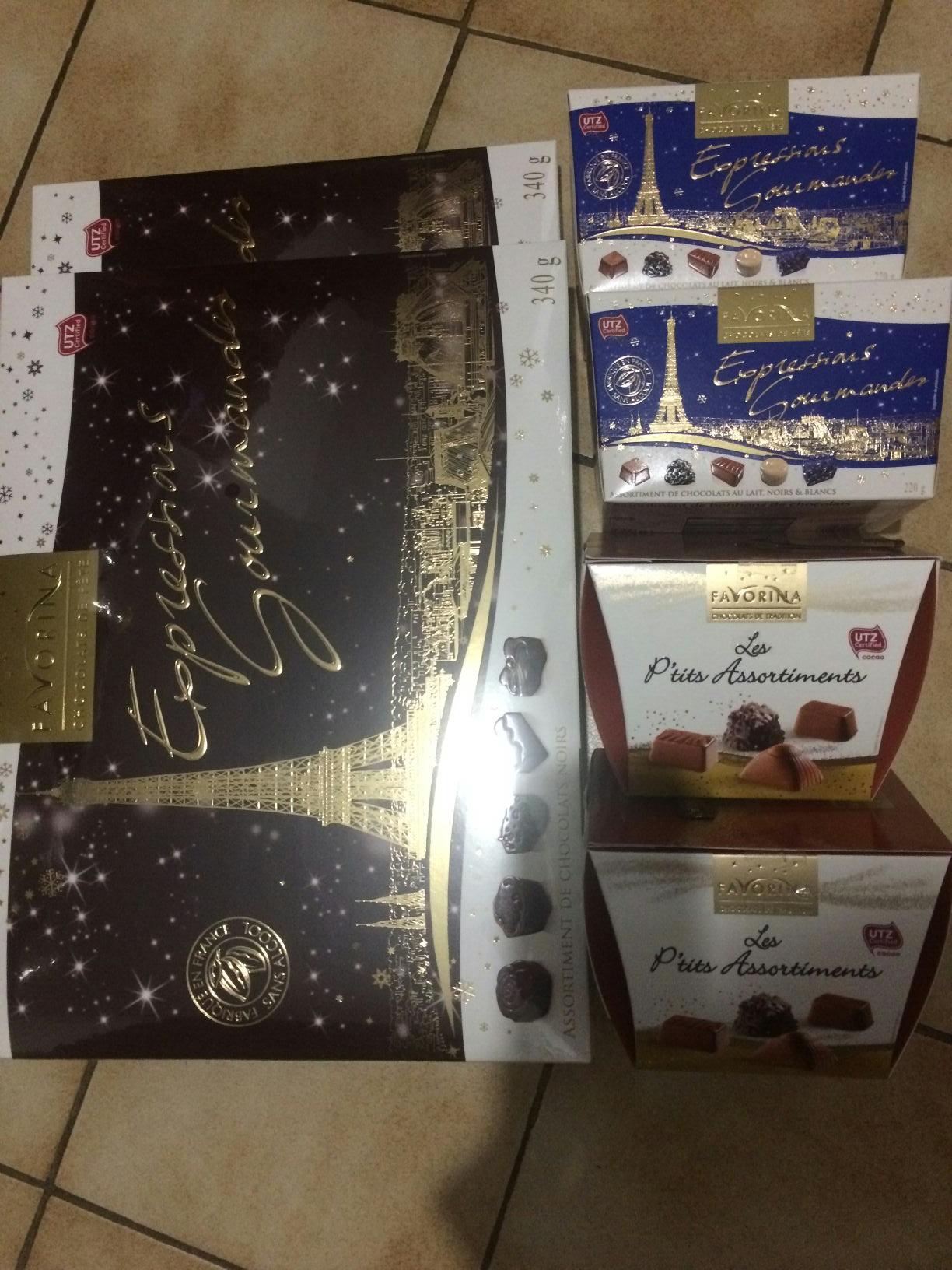 Assortiments de Chocolats Favorina - Béziers (34)