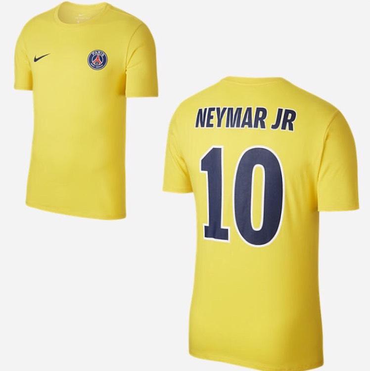 Tshirt du PSG : Extérieur Neymar (100% coton) - Tailles S, M, L, XL