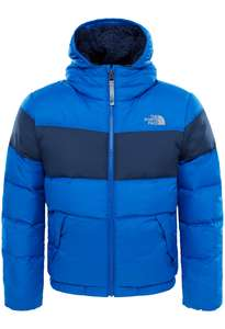 Sélection d'Articles North Face en Promotions + 20% de réduction supplémentaire - Ex: Veste Moondoggy 2.0 Down Hoodie Boy Blue (Tailles : XS, S ou M) - OD's