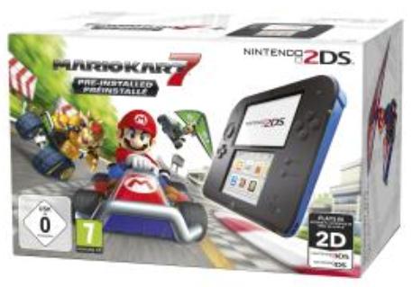 Sélection de Consoles Nintendo - Ex: 2DS + Mario Kart 7 + Metroid Prime Federation Force + L'infernal programme d'entraînement cérébral du Docteur Kawashima